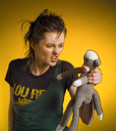 Masha and the Sock Monkey, © Jon Lisbon, www.jonlisbonphoto.com